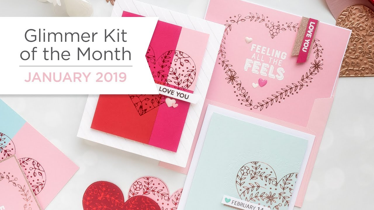 Spellbinders January 2019 Glimmer Hot Foil Kit Of The Month My