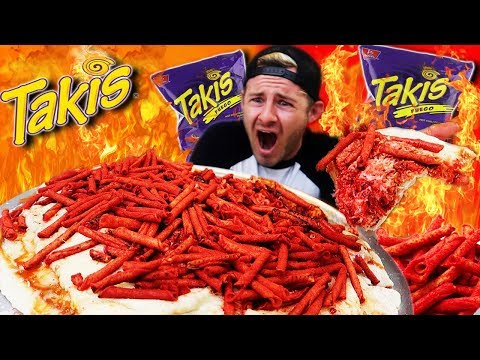 THE TREMENDOUS TAKIS PIZZA CHALLENGE (12,000+ CALORIES)
