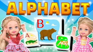 barbie the twins learn the alphabet ep114