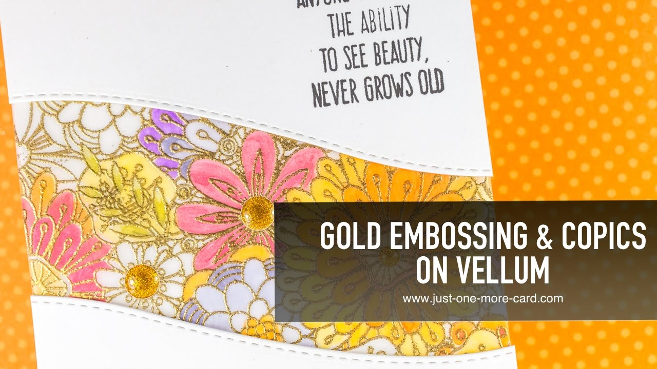 gold embossing u0026 copic coloring on glitter youtube