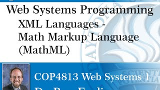 Web Programming - Math Markup Language