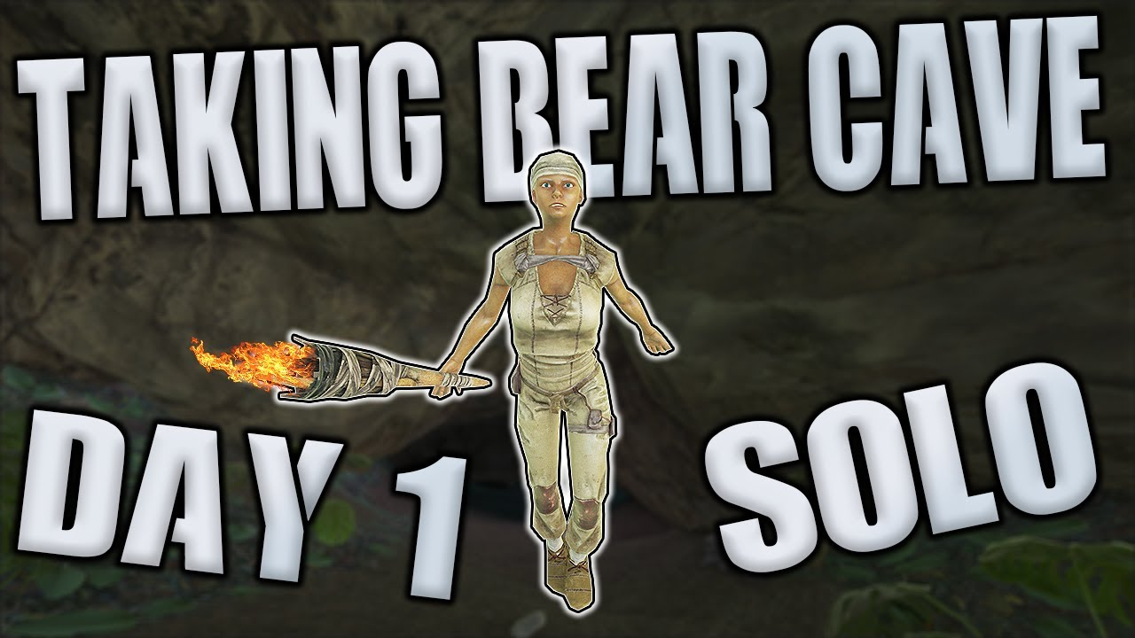 SOLO TAKING BEAR CAVE DAY 1 - MTS MAIN CLUSTER S6 Ep 1 - Ark: Survival Evolved