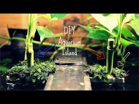 DIY Aquarium Bamboo Island