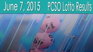 PCSO Lotto Results June 7, 2015 (6/58, 6/49, Swertres & EZ2)