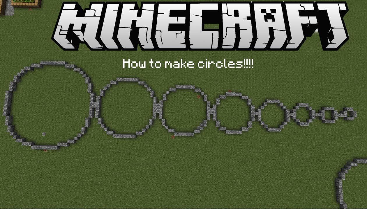 Minecraft How to build circles  YouTube