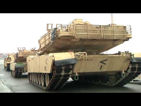 DFN:1st Armored Brigade Combat Team port operations, PORT OF ANTWERP, VAN, BELGIUM, 05.23.2018