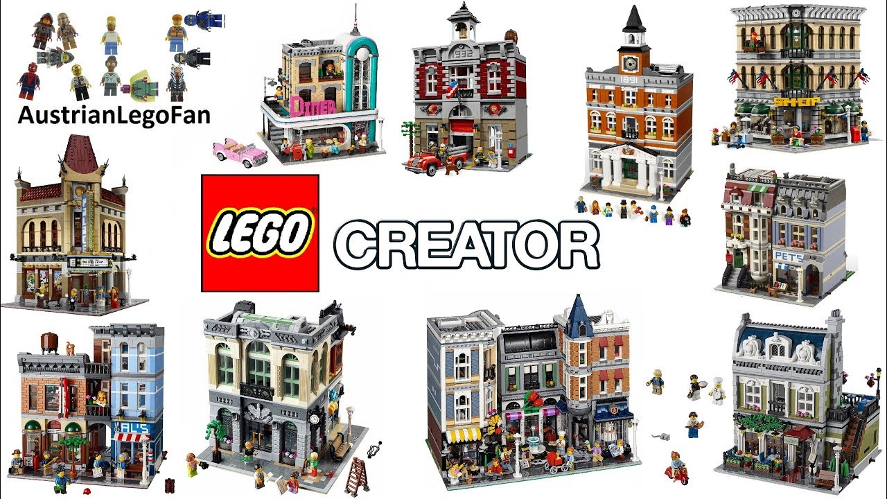 lego creator expert modular buildings 2009 2018 lego. Black Bedroom Furniture Sets. Home Design Ideas