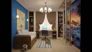 видео Дизайн детской комнаты для двоих детей:  варианты планировки детской для двоих и фото