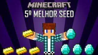 Quinta Melhor Seed Minecraft 1.3.2 - Muito Ouro e Diamante