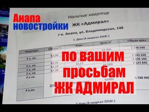 Анапа Новостройки по вашим просьбам ЖК АДМИРАЛ