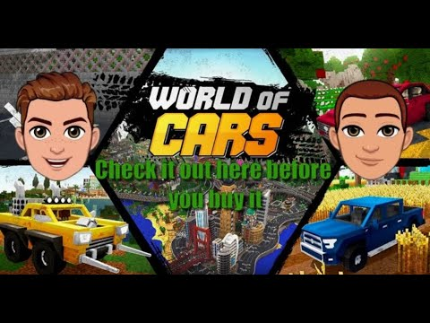 We Visit The 'World Of Cars' Mod On Minecraft -  Test And Review. Watch This Video Before You Buy.