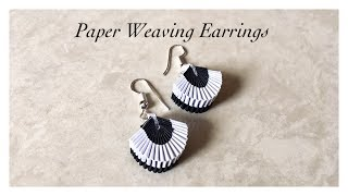 Paper Weaving Fan Shape Earrings / Quilling Weaved Earrings / Quilling Earrings Charm | Priti Sharma