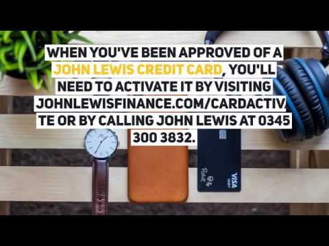 John Lewis Credit Card Apply Activate Login Make Payments Youtube