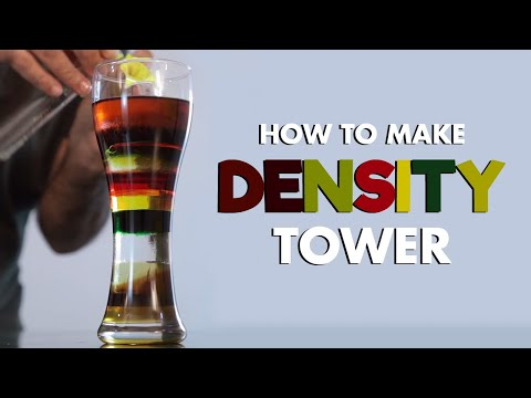 Density Tower 9 Layers Liquid Tower, Easy Kids Science Experiment