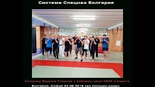 Система Спецназ Болгария Семинар Вадима Старова со школой ММА и карате