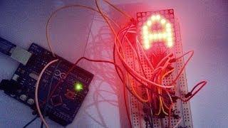 LED Matrix with Arduino (مصفوفة ليدات)