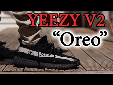 64e9a7fd320e3 Adidas YeezyBoost v2 Oreo Unboxing   Review