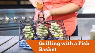 Grilling with a Fish Basket