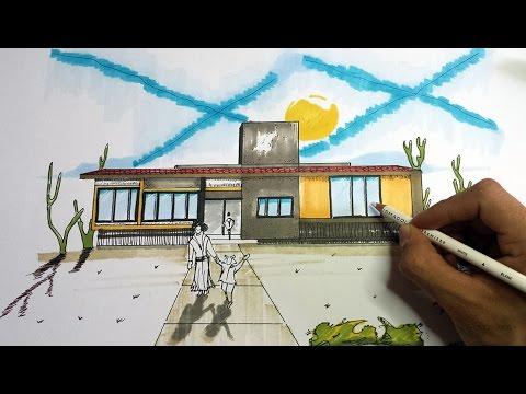 Como dibujar una fachada para tu casa arte orta youtube - Fotos de casas para dibujar ...