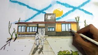 Como dibujar una fachada para tu casa –Arte Orta