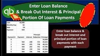 QuickBooks Online 2019-Enter Loan Balance & Break Out Interest & Principal Portion