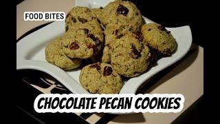 Chocolate pecan cookies   no maida no egg cookies  Recipe by FOOD BITES