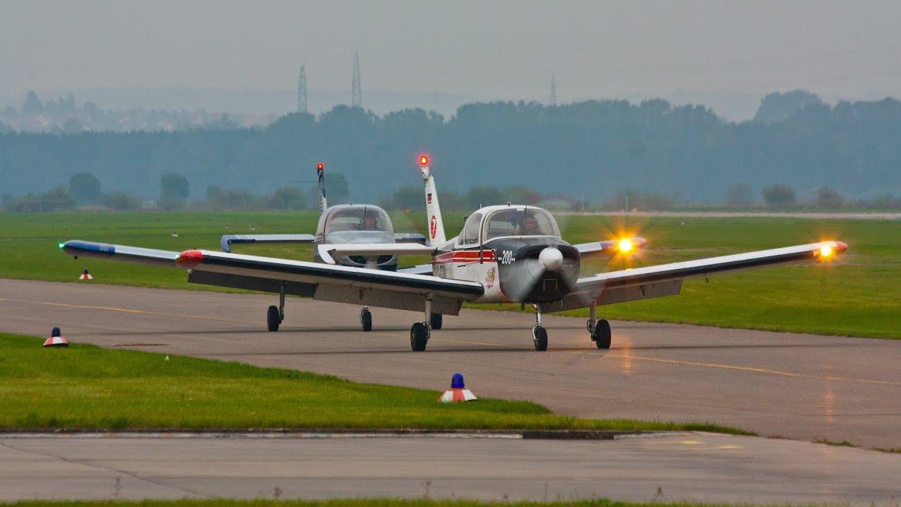 2 Fuji FA-200-180 Aero Subarus Formation Flying + Engine