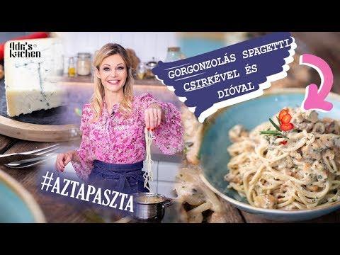 Gorgonzolás Spagetti, Dióval És Csirkével