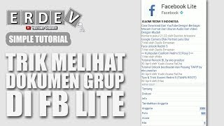 Ternyata Tersembunyi - Cara Melihat Dokumen Grup Facebook di FB Lite