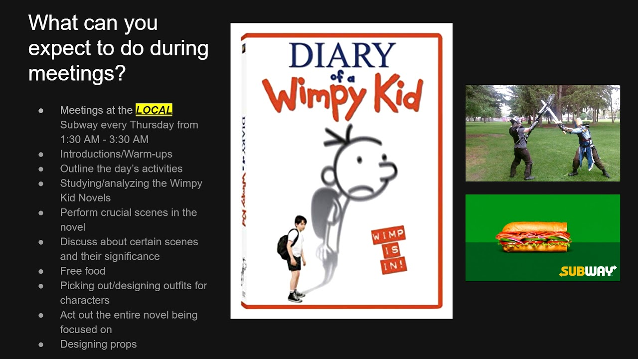 Diary Of A Wimpy Kid Roleplay Club Overview Slides Youtube