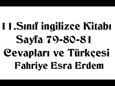 11.Sınıf İngilizce Kitabı Sayfa 79-80-81 Cevapları ve Türkçesi MEB 2019