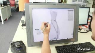 CATIA V6 | Industrial Design | CATIA Natural Sketch for 3D Sketching Experience