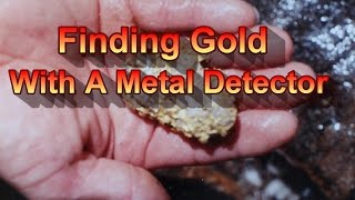 hunting gold nuggets with a metal detector
