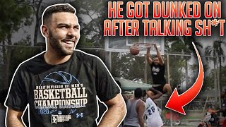 Old Man Was TALKING SH*T & Got Dunked ON At The PARK! (Mic'd Up 5v5)
