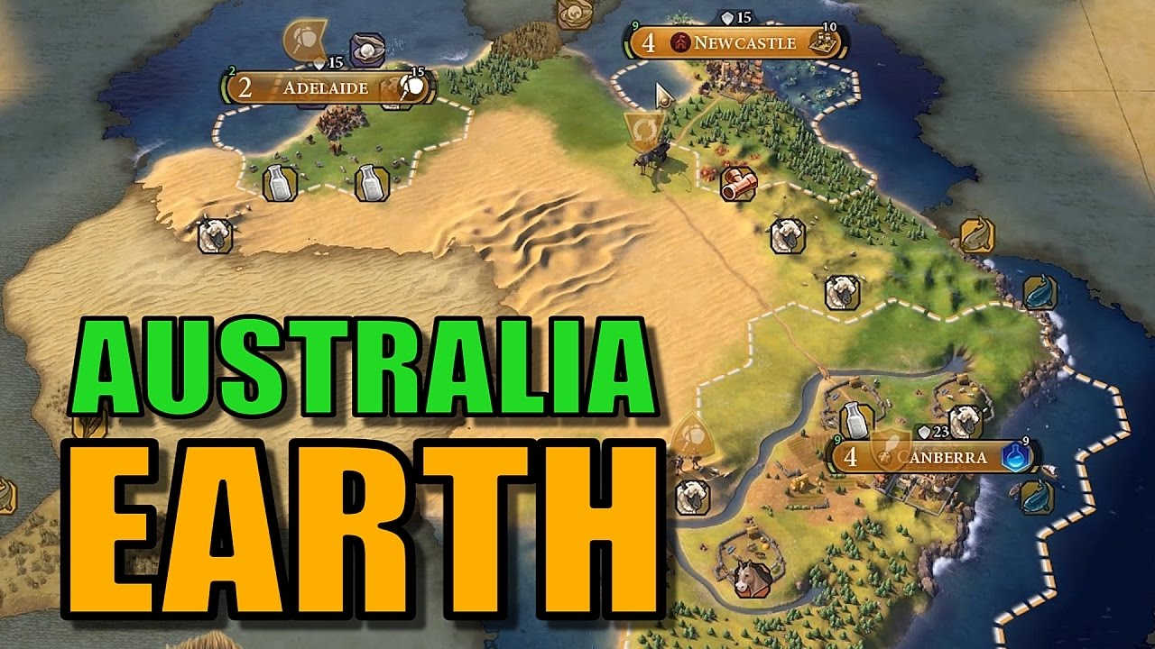 Civ 4 Earth Map.Civ 6 Australia Gameplay True Start Earth Map Let S Play