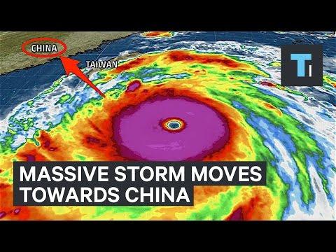 Massive storm moves towards China