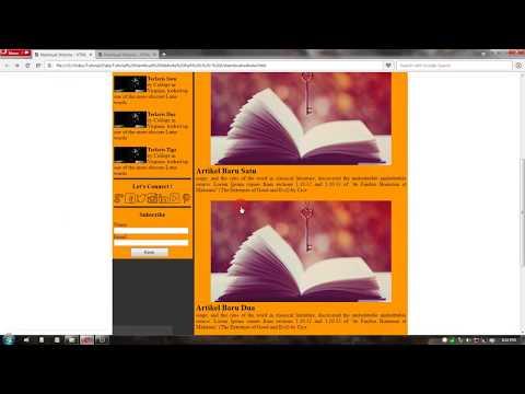 Cara Membuat Blog Sendiri Dari Nol Sampai Selesai - HTML CSS Part 9/11