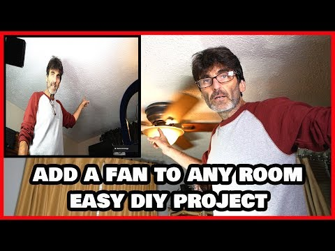 Add a Fan to ANY Room without Existing Fixture or Wiring!