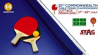 ORIBAMISE TOSIN (NGR) vs MUKHERJEE SAGARIKA (IND) 21st COMMONWEALTH TABLE TENNIS CHAMPIONSHIP 2019