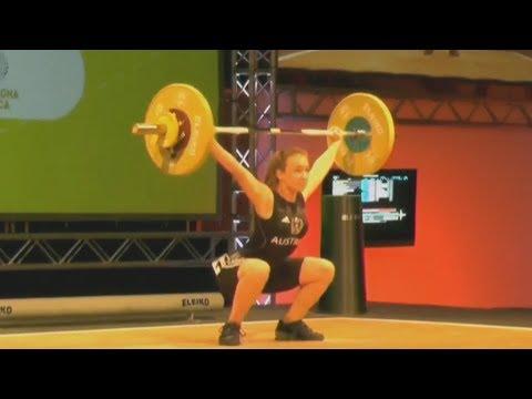 Alina Novak - Girls 53kg - 2018 European U15 Weightlifting Championships