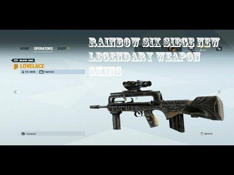 Rainbow Six Siege New Legendary Skins + Lovelace Showcase (Twitch's new  weapon skin)