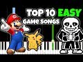 Top 10 Game Songs to Play on Piano [Easy Piano Tutorial]