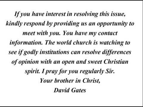 David Gates OPEN LETTER to Ted Wilson - scrisoarea lui D. Gates catre T. Wilson