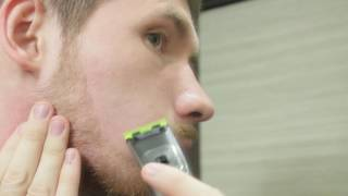 видеообзор триммера Philips QP6520 20 OneBlade Pro длина бороды 2 см