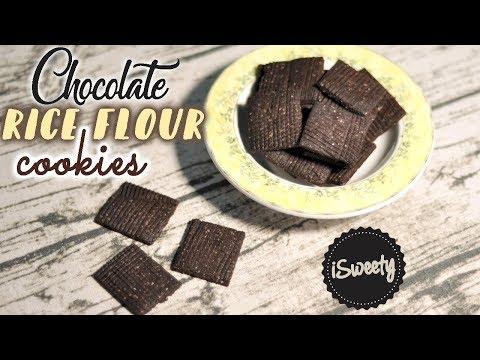 Chocolate Rice Flour Cookies Recipe [Gluten Free]