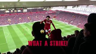 Liverpool 2:0 Chelsea! Mané + Salah strike for The Reds - Songs on The Main Stand, Anfield #LIVCHE