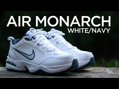 Closer Look: Nike Air Monarch IV - White/Navy