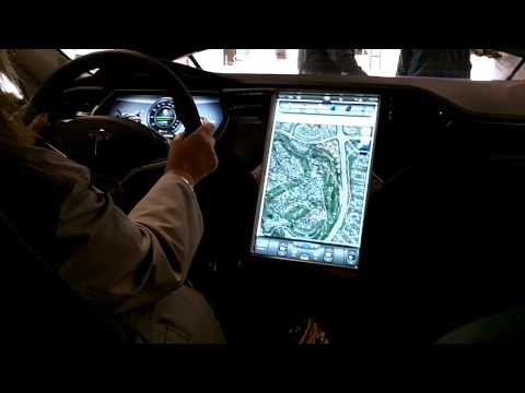 Tesla S Dashboard, GPS and instrument panel