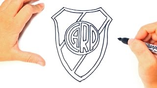 How to draw a River Plate Shield Step by Step | River Plate Shield Logo