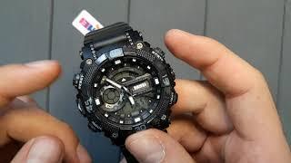 Обзор и настройка. Спортивные мужские часы Skmei 1228 Tornado